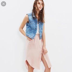 Madewell Silk Button-down Island Skirt